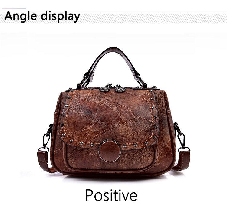 Designer de Rebite bolsa de Ombro Bolsa de Alta Qualidade Pequeno