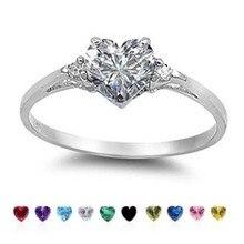 Кольцо для настроения Huitan с милым дизайном в виде сердца, блестящее CZ Кольцо с серебряным покрытием, лучший подарок на Рождество и год, кольца для женщин