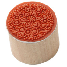 1PCS Vintage Floral Flower Round Wooden Rubber Stamp Scrapbooking Wedding Type:RS-03