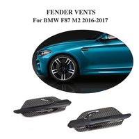 Las Entradas de Aire de Malla Lateral De Fibra de carbono Cubiertas para BMW F87 M2 Coupe Base 2-Door 2016-2017 2 Unids/set