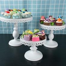 20cm, 25cm,30cm Wedding Cake Stand Tall Iron  Dessert Fruit Tray Plate