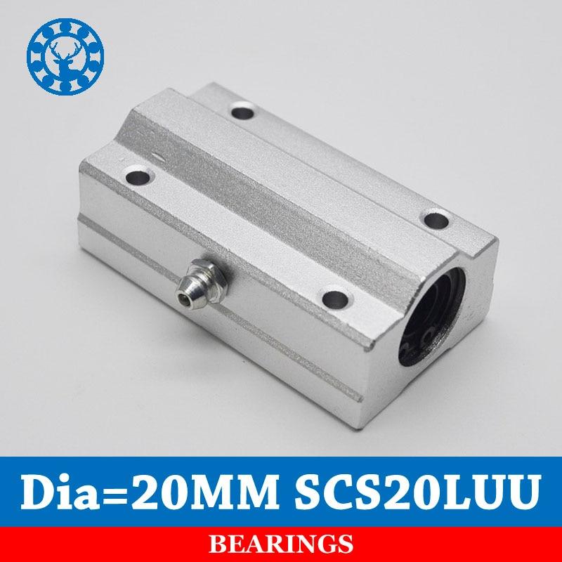 2PCS SC20LUU SCS20LUU 20mm Linear Ball Bearing Block CNC Router pillow For 20mm Linear Shaft