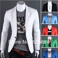 Free shipping The new spring clothing Man a new grain of pure color cultivate one's morality small suit coat