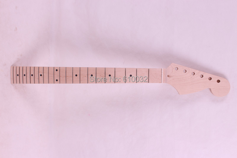 one high quality Unfinished electric guitar neck maple made maple fingerboard 001# one electric bass guitar neck high quality maple made with ebony fingerboard 21 fret
