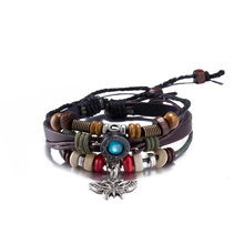 Punk Retro Women Bracelet Antique Silver Plated Butterfly pendant Charm Bracelet 2017 Leather Bangle Wristband Insect Jewelry