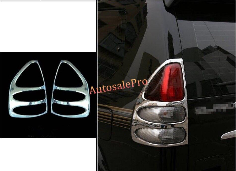 Chrome Rear Tail Light Lamp Cover Trim For Toyota Prado Fj120 2003 2004 2005 2006 2007 2008 2009