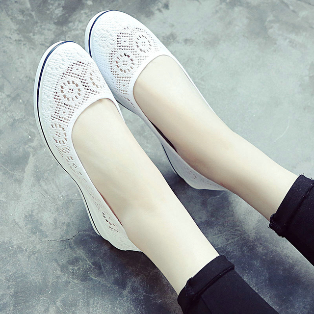 Cuculus 2018 New Canvas nurse shoes Solid Women Platform Casual Shoes Women Flat Bottom feminino Women shoes 437