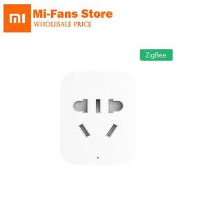 Image 1 - Оригинальная умная розетка Xiaomi Mi Zigbee с Wi Fi, беспроводные переключатели управления через приложение, вилка для ЕС, США, Австралии, таймер, зарядное устройство, работает с шлюзом D5
