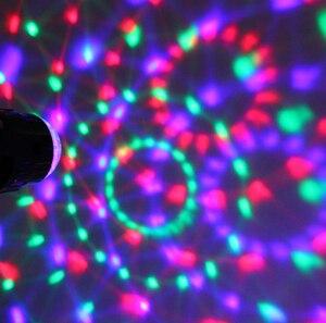 Image 5 - Bola de discoteca giratoria activada por sonido, luces de Fiesta de DJ, 3W, 3LED, RGB, luces de escenario LED, para Navidad, boda, fiesta