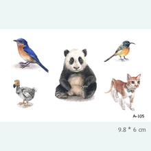 Panda Bird Cat Waterproof Temporary Tattoo Stickers For Adults Kids Body Art Fake Tatoo For Women Men Tattoos A-105