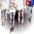 Модные леггинсы, сексуальные повседневные очень эластичные и цветные штаны, брюки, женские леггинсы - фото