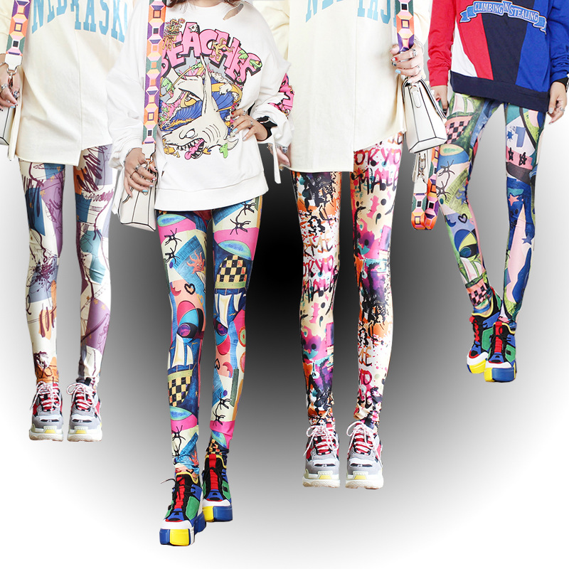 Fashion   Leggings   Sexy Casual Highly Elastic and Colorful Pants Trousers Woman's   Leggings