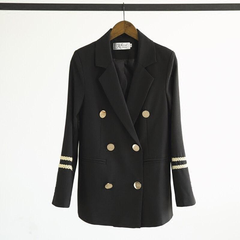 Occasionnel Militaire Printemps Style De Nouvelle Veste Costume Petite Automne Broderie Qualité Et Jq421 Mince Haute Femmes Noir Mode 1W1nZ8qUA