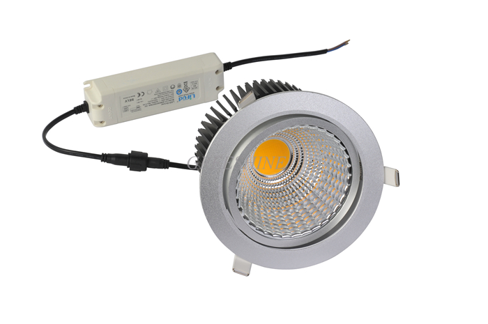 30W High CRI 95 Dali Triac Dimmable 110V 240V COB LED Downlight Recessed Ceiling Down Lights Lamp Warm-Cool-Natural White 8pcs the new super bright led built dimmable downlight cob 3w 5w mr16 gu10 led spot light led decoration ceiling lamp ac220 led lamp