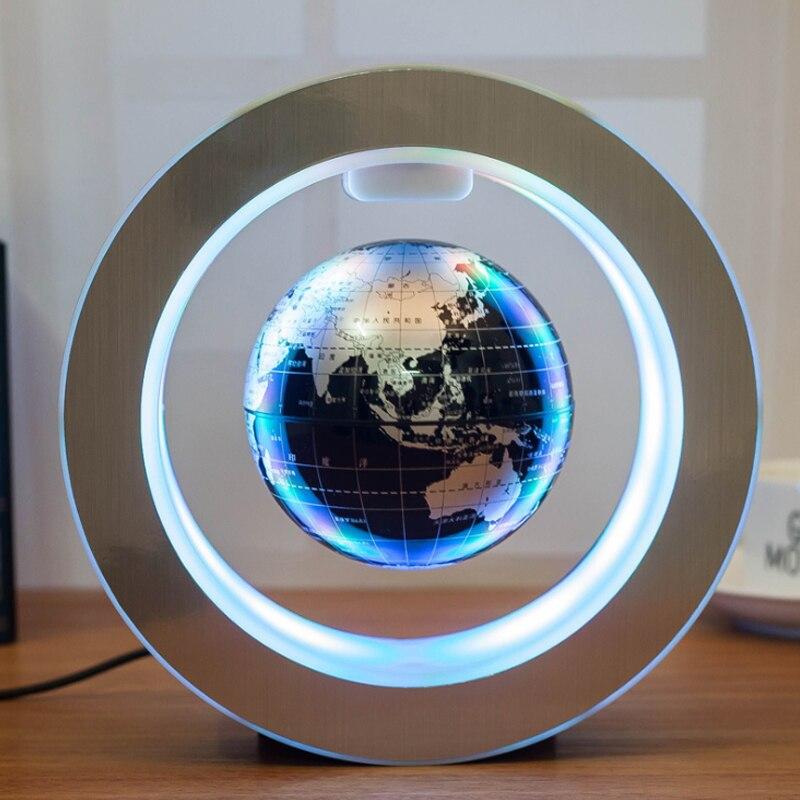Ronde Terre Électronique Lévitation Magnétique Flottant Globe Lumière De Noël Fête D'anniversaire Creative Décor Cadeau Enregistré Amour
