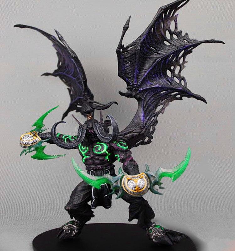 Wow demônio caçador figura de ação dc série ilimitada 5 13 polegada deluxe encaixotado demônio illidan stormrage wow figura pvc brinquedo