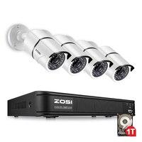 ZOSI Security Camera System 4ch CCTV System 4 1080P CCTV Camera 2.0MP Camera Surveillance Kit 4ch DVR 1080P HDMI Video Output