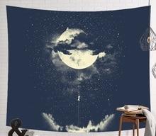 CAMMITEVER astronauta espacio Luna tierra nube colgando tapices de pared decoración creativa del hogar