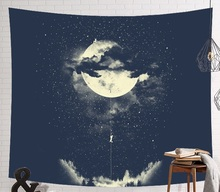 CAMMITEVER 宇宙飛行士の宇宙ムーン地球クラウドウォールタペストリークリエイティブホームデコレーション
