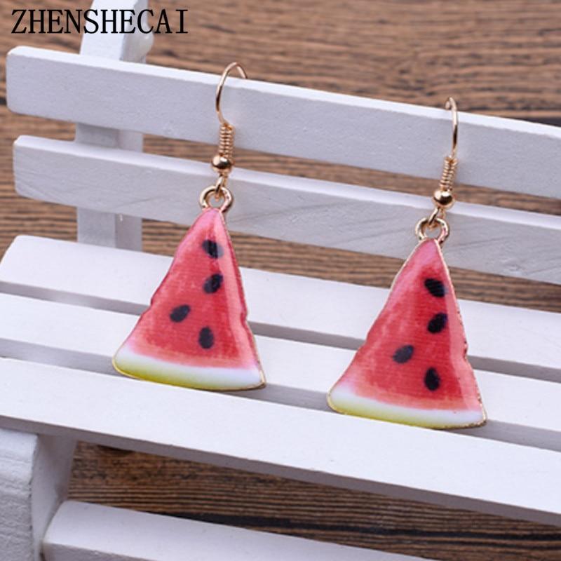 Cute Fruit Stud Earrings Trendy watermelon Triangle Mini Earrings For Women fashion jewelry girls Beautiful gift e0410