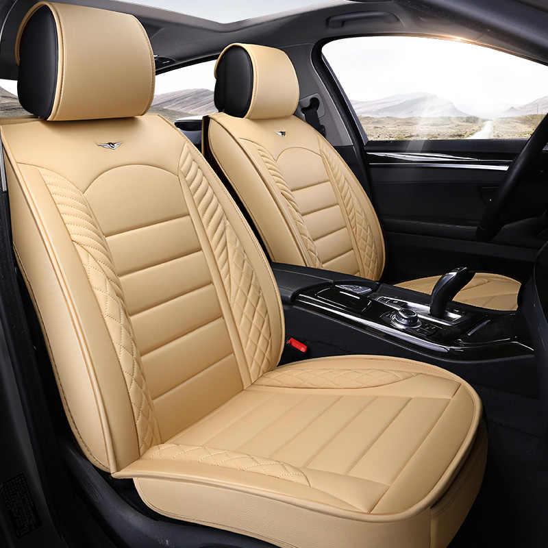 หนังหุ้มเบาะรถยนต์ยูนิเวอร์แซอุปกรณ์ตกแต่งภายในรถยนต์สำหรับออดี้a3 8จุด8โวลต์ซีดานs portback a4 b5 b6 b7 b8 a5 a6 c5 c6 c7 c4 80