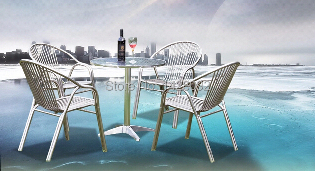 Outdoor aluminum folding chair and table set outdoor leisure chair and table king camp комплект 3850 table chair set серый