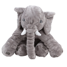 1Pcs Large Plush Elephant Toy Elephant Shape Plush PP Cotton Stuffed Pillow Super Soft Doll Cushion for Kids Children K5BO