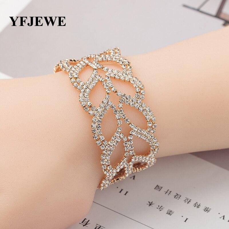 YFJEWE Luxury 2 Color Bracelets For Women Bracelets & Bangles Femme Bridal Wedding Accessories Jewelry Bracelet Fashion B139