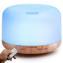 Ultrasonic Air Humidifier 500ml Aroma Essential Oil Diffuser with Remote Control LED Lamp Aromatherapy Diffuser Mist Maker crdc cr dc3 500ml ultrasonic aroma diffuser colorful oil lamp