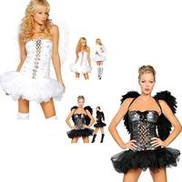 Free Shipping Hot Sale Beautiful Top Quality Sexy Angel Costume 3S1233 Adult Fancy Dress Costumes Sexy