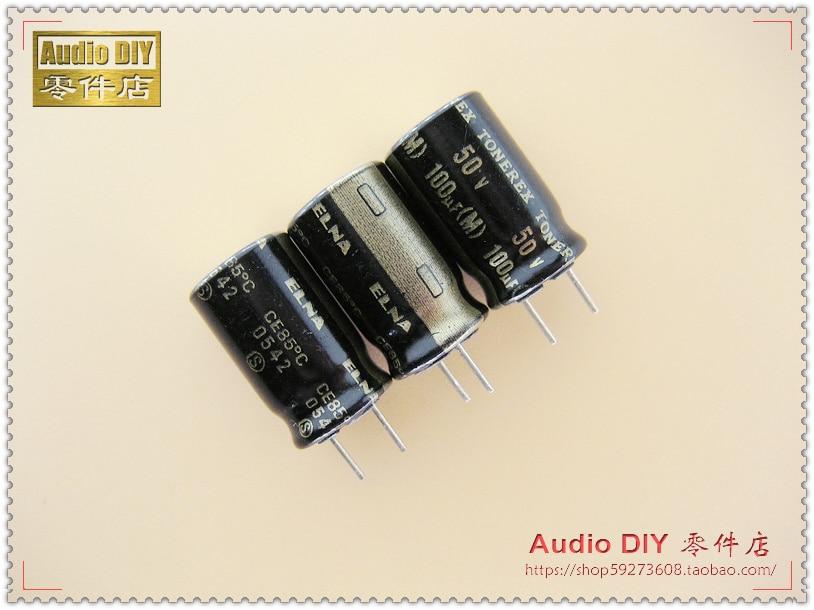 2019 Hot Sale 10pcs/30pcs ELNA TONEREX Series 100uF/50V Electrolytic Capacitors For Audio Free Shipping
