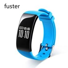 Fuster 15 дней ультра длительным временем ожидания bluetooth 4.3 фитнес смарт браслет 0.66 «oled экран ip67 водонепроницаемый смарт-группы