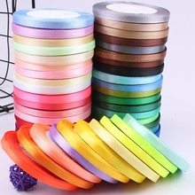 25Yards Satin Ribbon 6mm Grosgrain Ribbons DIY Bow Craft Decor for Gift Wrapping Wedding Party Decoration Scrapbooking Supplies