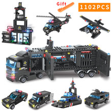 8 In 1 City Police Series with 8 Figures Building Blocks DIY Plice Station Bricks Educational Blocks Learning Toys For Children zxz 02006 815pcs city police series the prison island set building blocks bricks educational toys for children gift legoingse