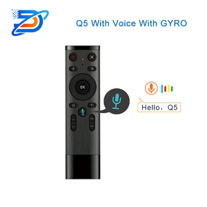 Q5 Gyro Voice Control Draadloze Air Mouse 2.4G RF Sensor Smart Afstandsbediening met Microfoon voor X96 H96 Android TV Box Mini PC