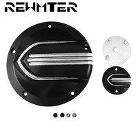 CNC 5 Hole Derby Cover Timer Cover Black Aluminum For Harley Touring 2016 later FLHTCUL and FLHTKL 2015 Up FLH/T 2016 2018