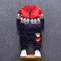 Baby Born Promotion Coat 2016 New Children In Spring And Autumn Long Sleeved Two Piece Boys Sport Sweater Suit Baby Clothes Set