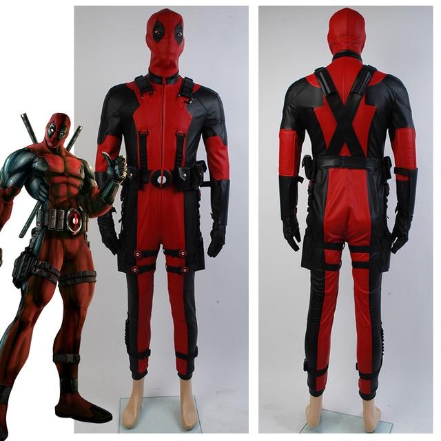 9ad336b265aede Deadpool kostium Hot 2016 film superhero kombinezon Deadpool cosplay  kostium dla dorosłych wykonane na zamówienie strój