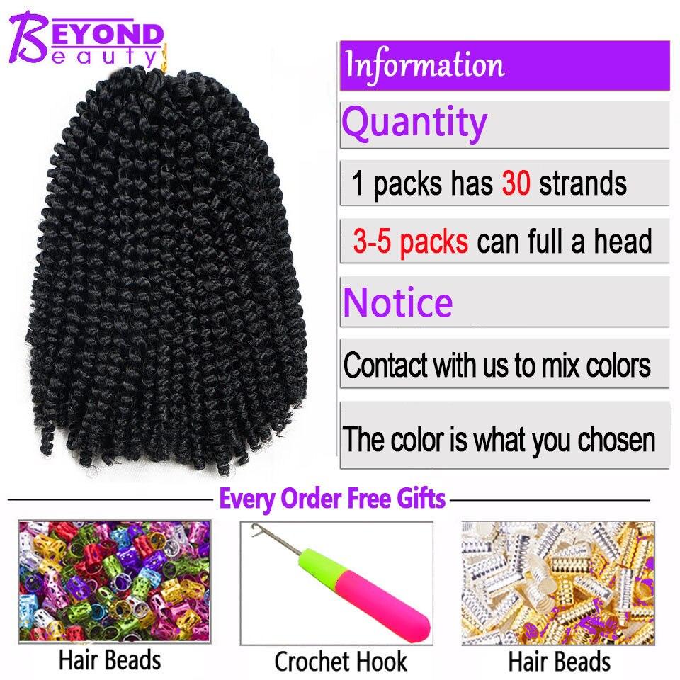 ❤️ Beyond Beauty Fluffy Spring Twist Hair Extensions Black Brown Burgundy  Ombre Crochet Braids