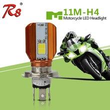 R8 LED M11M H4 HS1 12 v Luz Motocicleta LEVOU Farol Lâmpada LED Lâmpadas de Motor 20 BA20D w 2000LM H6 moto cabeça Lâmpada 6500 k Branco
