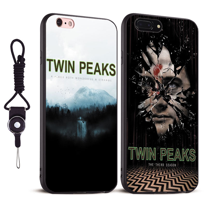 Twin Peaks vintage Coque Tpu Soft Silicone Phone Case Cover shell For Apple iPhone 5 5S SE 6 6S 6Plus 6sPlus 7 7Plus 8 8Plus X