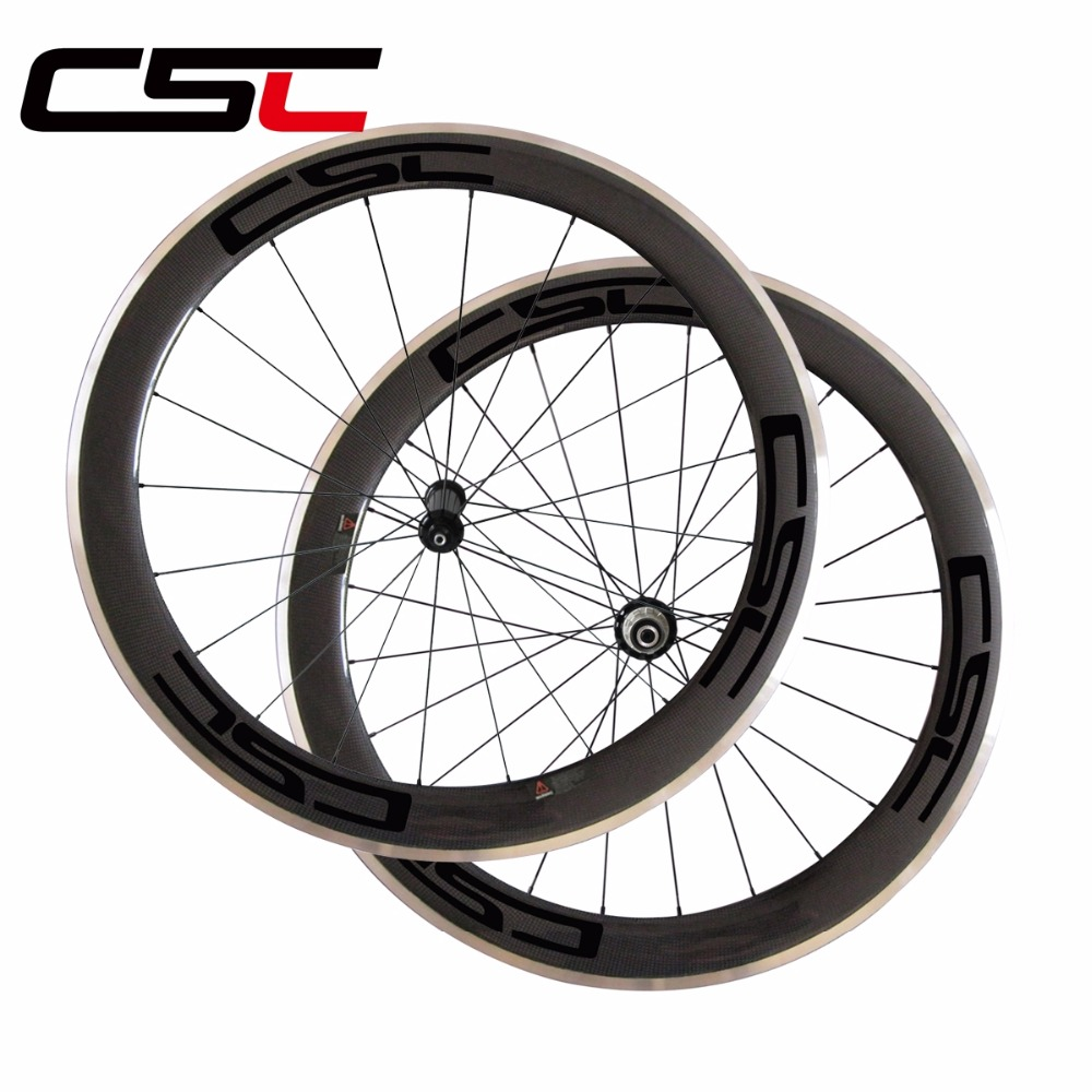 60mm clincher rear carbon bike wheel,700C 23mm width tubeless compatible