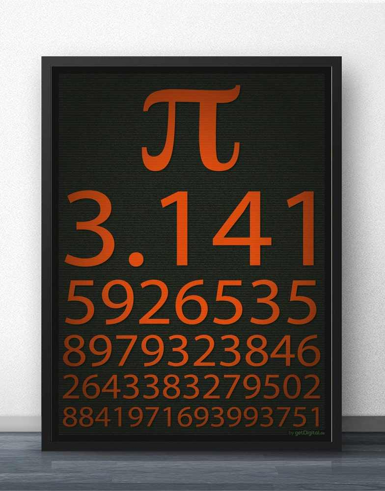 Pi Math 3 14 Poster Art Wall Canvas Prints Canvas Art Oil Paintings No Frame