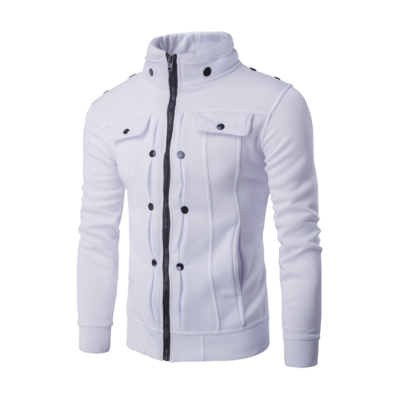 Mens Jackets Basic Coats Solid Color Jacket Male Casual Stand Collar Cotton Coat Zipper Slim Fit Outerwear 2018 Spring Fashion