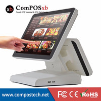 Newest model dual screen Touch POS terminal 15/12 screen for supermarket pos/Epos system/Cash register