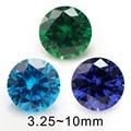 Размер 4 мм 5 мм 6 мм (3,5 ~ 10 мм) синий цвет AAAAA круглый блестящий синтетический кубический циркониевый камень свободный