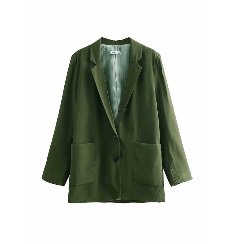 Suit set 2019 autumn new popular women's fashion solid color single-breasted suit jacket casual pants suit two-piece