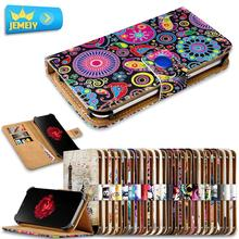 For ZTE Geek 2 LTE Pro V975 Universal Printed PU Wallet Flip Flora Leather Case Cell Phone Cover Cases Middle Size