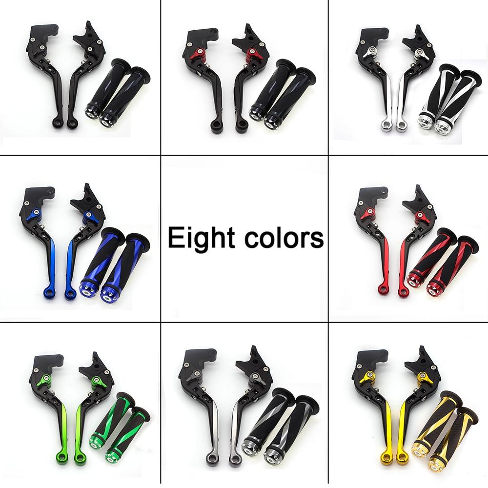 For Yamaha YFM 700 Raptor 700R 2007 - 2017 CNC Adjustable Folding Extendable Motorcycle Brake Clutch Levers & Handle Grips Set