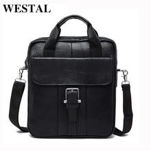 WESTAL Männer Tasche Aus Echtem Leder Taschen Männer Messenger Bags Marke Casual Male Klappe Leder Handtaschen herren Schulter Crossbody Tasche